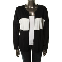 Calvin Klein Womens Knit Colorblock Cardigan Sweater
