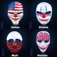 Halloween Mask Payday 2 Resin Cosplay Masks = 1932041732