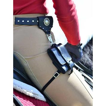 Rivetti Leather Belt & Classico Satchelita Leather Phone Case with Connector & Thigh Strap