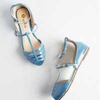 ModCloth Shoe Me the Way Flat in Cerulean