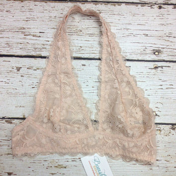 Lace Bralette in Sand