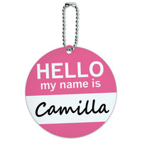 Camilla Hello My Name Is Round ID Card Luggage Tag