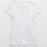 Aerie Real Soft® Old School Tee, White