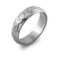 Ladies Sterling Silver Claddagh Wedding Ring LS-RS42
