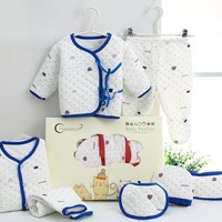 Winter Keep Warm!7 Pcs/Set Cotton Newborn Baby Clothing Set for Girls Boys Toddler Baby-clothes New Born Gift Set Soft Cute