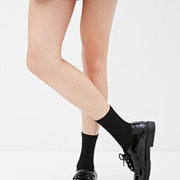 Faux Patent Leather Oxford Shoes