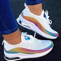 2020 new products women's reflective flying mesh women's shoes flat casual sneakers shoes