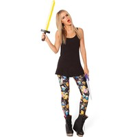 Atomic Black Adventure Time Montage Leggings