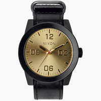 Nixon Corporal Watch Black/Gold One Size For Men 25950014901