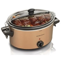 Hamilton Beach 33264 Stay or Go Small 6-Quart Slow Cooker with Timer, Copper - Walmart.com