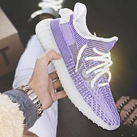 Adidas Yeezy Boost 350 V2 Sneakers Fashion running shoes Purple