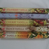 Rainbowrecords239 100 Count Hem Vanilla Incense Sticks, Vanilla Orange Strawberry French Cherry