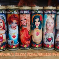 "RuPaul 8 QUEEN Pack - 8"" Celebrity Tribute Devotional Candle -  RuPauls Drag Race - Heavenly geekery"