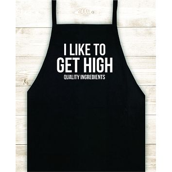 High Quality Ingredients Apron Heat Press Vinyl Bbq Barbeque Cook Grill Chef Bake Food Funny Gift Men
