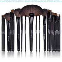 SHANY Studio Quality Natural Cosmetic Brush Set with Leather Pouch, 24 Count:Amazon:Beauty