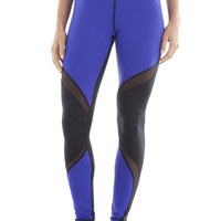 Michi Activewear Supanova Designer Leggings - Indigo and Black