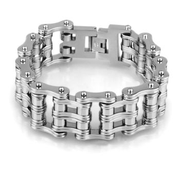 Double Layer Motorcycle Chain Link Bracelet