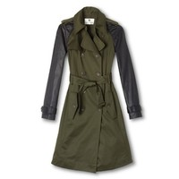Altuzarra for Target Trench Coat with Back Detail- Military Green/Black