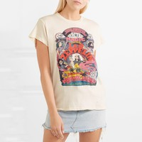 Magic Cartoon Print T shirt Short Sleeve Top  Shirt Tee Round neck Women Pullover Tops Female T-shirts
