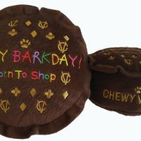 Chewy Vuiton Happy Barkday Dog Toy
