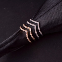 Shiny Gift Jewelry New Arrival Double-layered Diamonds Stylish Simple Design Accessory Ring [4915699972]