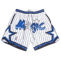 Indie Designs Embroidered NBA Mesh Drop Crotch Shorts
