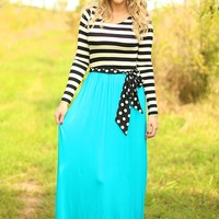 Hyped for Stripes Dress in Jade