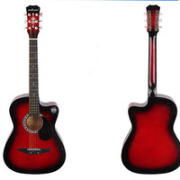 New Professional Acoustic Callaway Folk 38 inch  Guitar STAGE ESSENTIALS Red