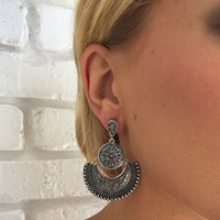 Minka Earrings In Silver