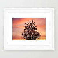 Pineapple Fountain Pink Framed Art Print by Legends Of Darkness Photography