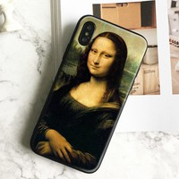 Mona Lisa Smile Painting coque Soft Silicone Phone Case Cover Shell For Apple iPhone 5 5s Se 6 6s 7 8 Plus X XR XS MAX
