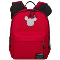 Korean high quality women backpack solid color Canvas Backpacks Cute Mickey ear bag Young girls schoolbag Teen girls' lovely