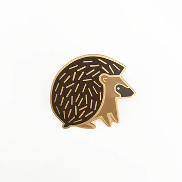 Hedgehog Pin Hard Enamel Lapel Pin Brooche
