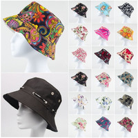 41 Colors Cotton Sun Hat Sunbonnet Fishing Hats Female Spring Summer and Autumn double faced Big Bucket Hat Advertising Cap = 1930173444