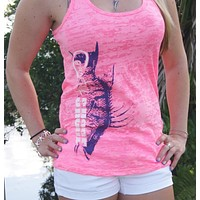 Burnout Neon Pink Hogfish Tank Top