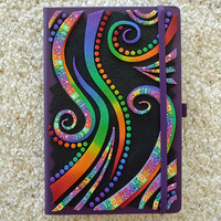 Personal Journal 3D Crazy Stripe Polymer Clay in Rainbow Colors