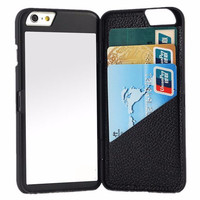 Glam iPhone Mirror & Card Case in Black for 6, 6Plus