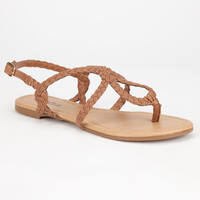 Soda Durham Womens Sandals Tan  In Sizes