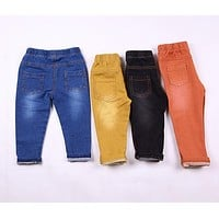 Kids Jeans Spring & Summer Style Denim Pants Cotton Trousers for Baby Boys & Girls