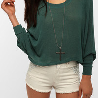 Urban Outfitters - Sparkle & Fade Extreme Dolman Cropped Sweater