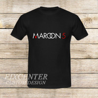 Maroon 5 Typography on T shirt
