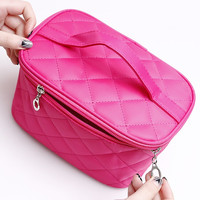 Cosmetic box 2016 new female Quilted professional cosmetic bag women's large capacity storage handbag travel toiletry makeup bag