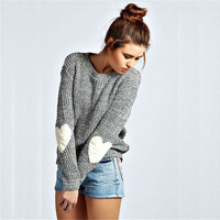 Autumn and winter women's long sleeve heart Sweater [9185627844]