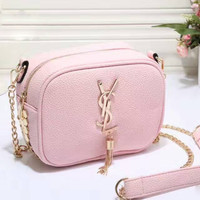 YSL SMALL TASSEL Women Shopping Bag Leather Satchel Crossbody Handbag Shoulder Bag Pink