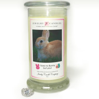 I Love No Bunny But You! Jewelry Greeting Candles
