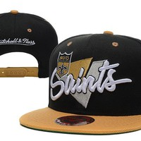 hcxx New Orleans Saints Snapback NFL Football Cap M&N