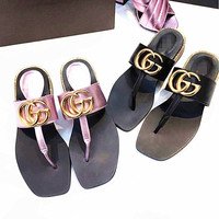"""GUCCI""Fashion Women Casual Comfortable Sandals Shoes Slippers"