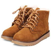 Winter New Cotton Flat Ankle Snow Boots