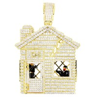 Men's New Rapper Mini Trap House  Custom Pendant
