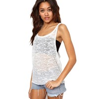 Sleeveless Tank Tops for women Summer Casual Loose Cotton Crop top White Navy Color